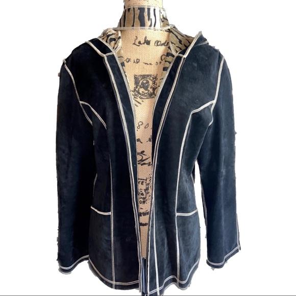 NWOT- Suede Golden Zebra Reversible Hooded Jacket